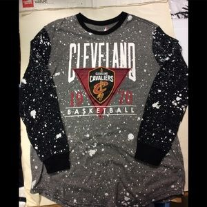 Gray Cleveland cavaliers longsleeve T-shirt